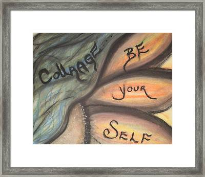 Courage Framed Print by Tracy Fallstrom