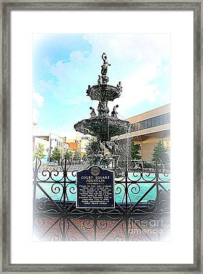 Court Square Fountain Framed Print by Carol Groenen