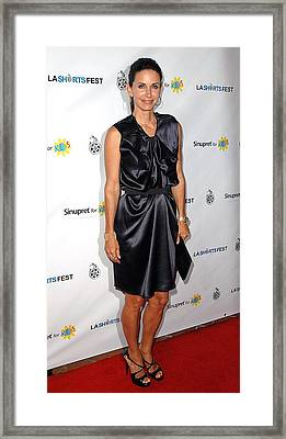 Courteney Cox Arquette At Arrivals Framed Print