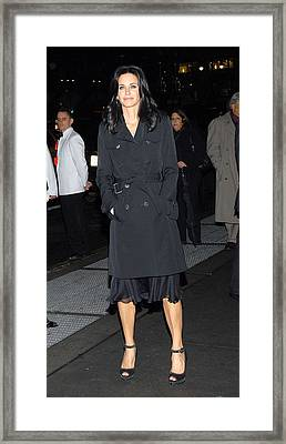 Courteney Cox At Arrivals For Avon Framed Print