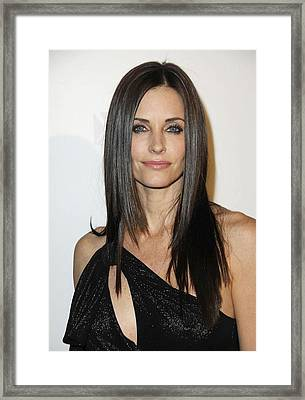Courteney Cox At Arrivals For Fx Framed Print by Everett