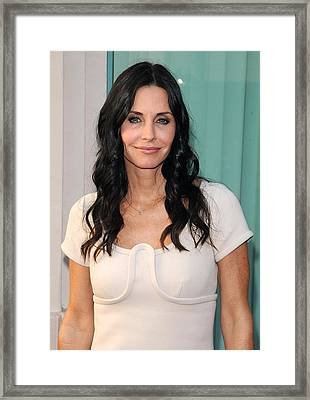 Courteney Cox In Attendance For Atas Framed Print by Everett