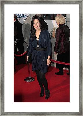 Courteney Cox Wearing A Marc Jacobs Framed Print