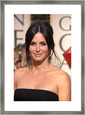 Courteney Cox Wearing Ofira Schwartz Framed Print