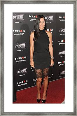 Courteney Cox Wearing The Row Framed Print by Everett