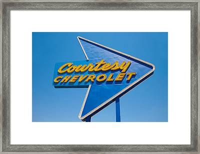 Courtesy Chevrolet Framed Print