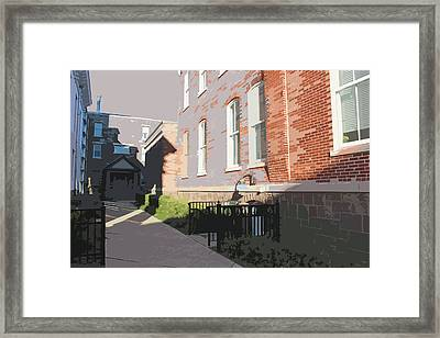 Courthouse Alley Framed Print by Frank Nicolato