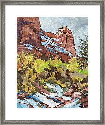Courthouse Rock Framed Print by Sandy Tracey