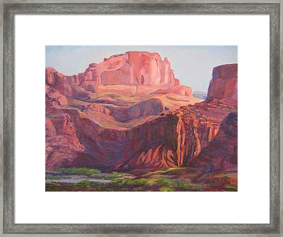 Courthouse Wash Portal Framed Print