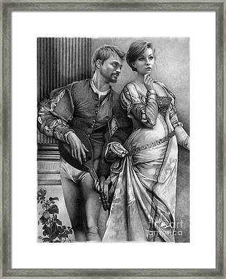Courting Framed Print by David Vanderpool
