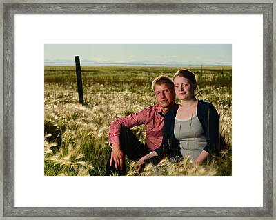 Courtney And Travis Framed Print