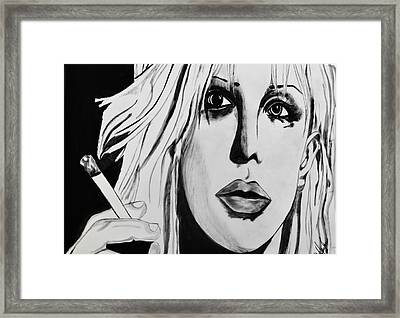 Courtney Love Framed Print by Cat Jackson