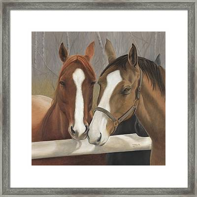 Courtship Framed Print