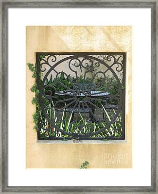 Courtyard Framed Print by Blanche Knake