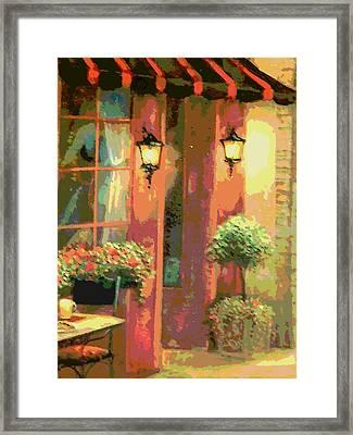 Courtyard Framed Print by David Alvarez