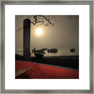 Cove Fog - Orleans Cape Cod Framed Print by Dapixara Art