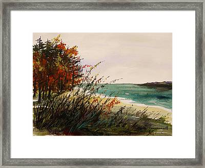 Cove On An Autumn Day Framed Print by John Williams