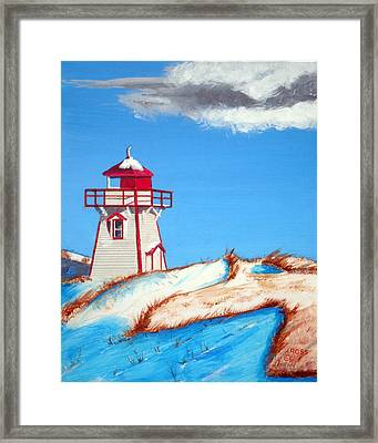 Covehead Harbor Light Framed Print