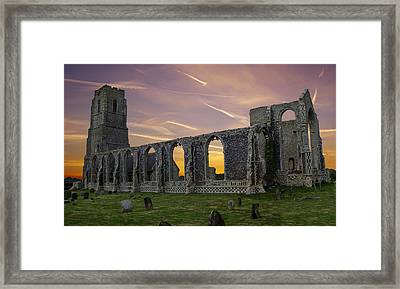 Framed Print featuring the photograph Covehithe Abbey - Suffolk by Rod Jones