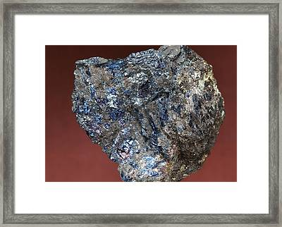 Covellite Framed Print by Dirk Wiersma