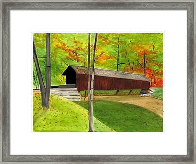 Covered Bridge 1 Framed Print