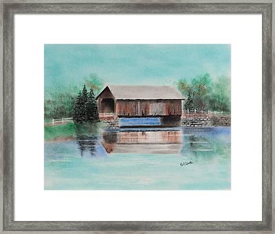 Covered Bridge Allegheny County Framed Print by Paul Cubeta
