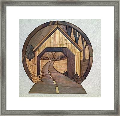 Covered Bridge Framed Print by Bill Fugerer