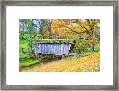 Covered Bridge Framed Print by Darren Fisher
