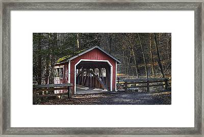 Covered Bridge Framed Print by Ercole Gaudioso