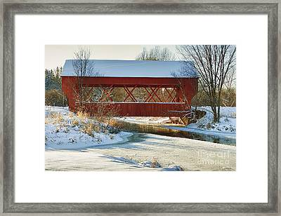 Framed Print featuring the photograph Covered Bridge by Eunice Gibb