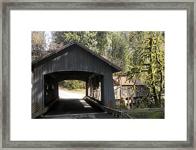 Covered Bridge Framed Print by Garry Kaylor