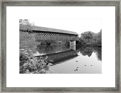 Covered Bridge Guelph Ontario Framed Print