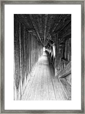 Covered Bridge Framed Print by Lauri Novak