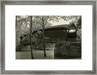 Framed Print featuring the photograph Covered Bridge by Mary Almond