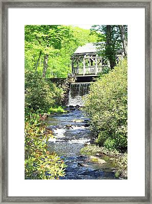 Covered Bridge Framed Print by Sara Walsh