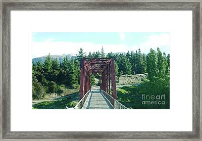 Covered Bridge Framed Print by Therese Alcorn