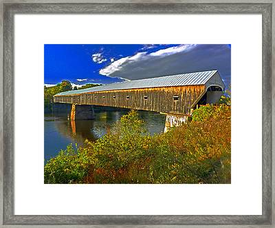Framed Print featuring the photograph Covered Bridge by William Fields