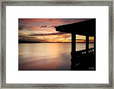 Covered Dock View Framed Print by Phill Doherty