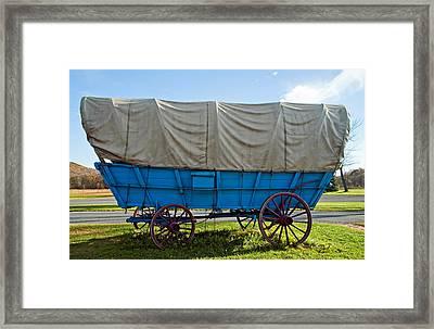 Covered Wagon Framed Print by Steve Harrington