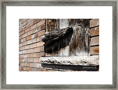Covered Window Framed Print