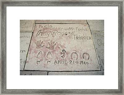 Cowboy Actor Roy Rogers Hand Framed Print by Everett