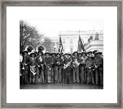 Cowboy Band, 1929 Framed Print by Granger