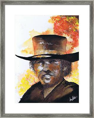 Cowboy Clint  Framed Print