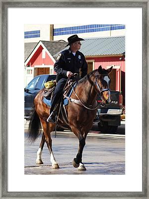Cowboy Cop Framed Print by DiDi Higginbotham