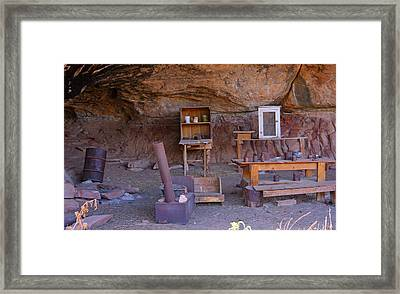 Cowboy Encampment Framed Print