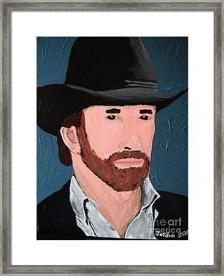 Cowboy Framed Print by Jeannie Atwater Jordan Allen