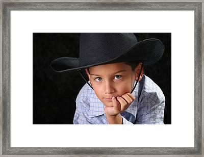 Cowboy Framed Print by Richard Baptiste