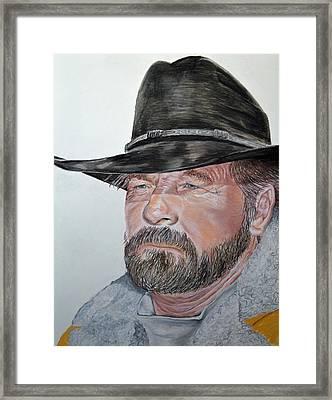 Cowboy Up Framed Print by Ann Marie Chaffin