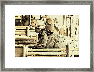 Cowboys Framed Print by Don Youngclaus