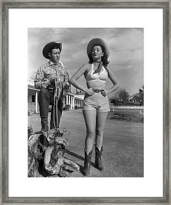 Cowgirl Blues Framed Print by Archive Photos
